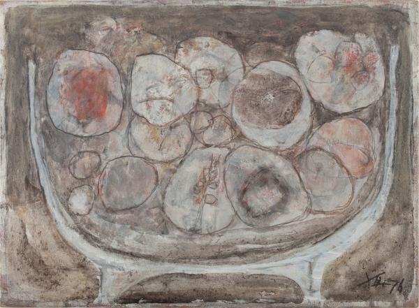 박항섭 Park Hang Sub, 과일 Fruit, 1976, 캔버스에 유채 Oil on canvas, 33x45cm, 개인 소장© Image Copyright Park Hang Sub Estate, Collector