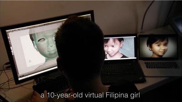 네덜란드 아동인권단체 '인간의 대지(Terre des Hommes)'는 2013년 아동 대상 음란 화상채팅을 막기 위해 컴퓨터 그래픽 기술로 '스위티(sweetie)'라는 가상 인물을 만들어냈다. 10세 필리핀 소녀로 설정된 스위티가 화상채팅을 한 10주 간 70여개 국가에서 2만명이 넘는 남성이 말을 걸어왔다. ©Terre des Hommes 유튜브 영상 캡쳐