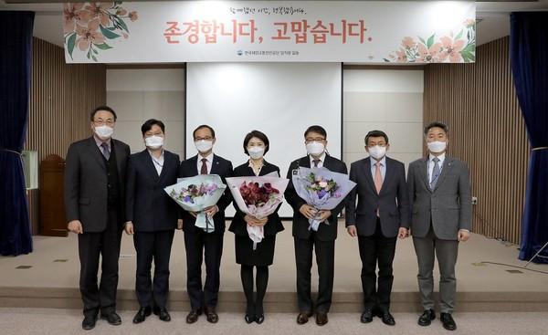 지난 26일 이연승 한국해양교통안전공단(KOMSA) 초대 이사장이 퇴임식을 가졌다. 사진=한국해양교통안전공단
