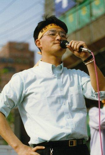 1990년 성균관대학교 사회학과에 입학했고 학생운동에 적극적으로 참여하는 박용진 ⓒhttps://parkyongjin.com/992 [서울 강북을 국회의원 박용진입니다]