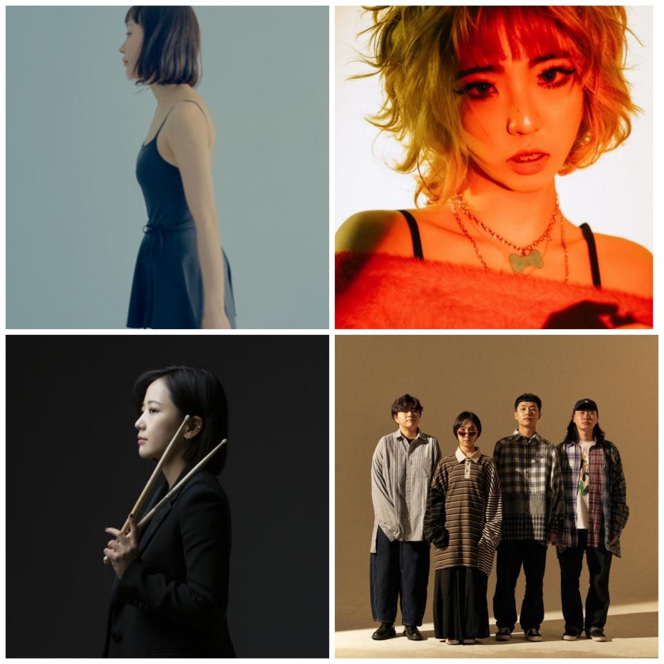 제18회 한국대중음악상 시상식에서 장르별 최우수 노래로 선정된 뮤지션들. 왼쪽 위부터 시계 방향으로 차례로 아슬, 스월비, 추다혜차지스, 서수진. ⓒ지니뮤직