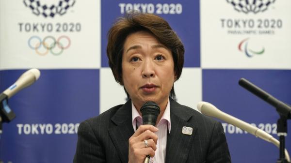 하시모토 세이코 도쿄 올림픽·패럴림픽 조직위원회(도쿄 2020) 위원장이 3일 도쿄에서 자문위원회를 마친 후 기자회견하고 있다. ⓒAP/뉴시스