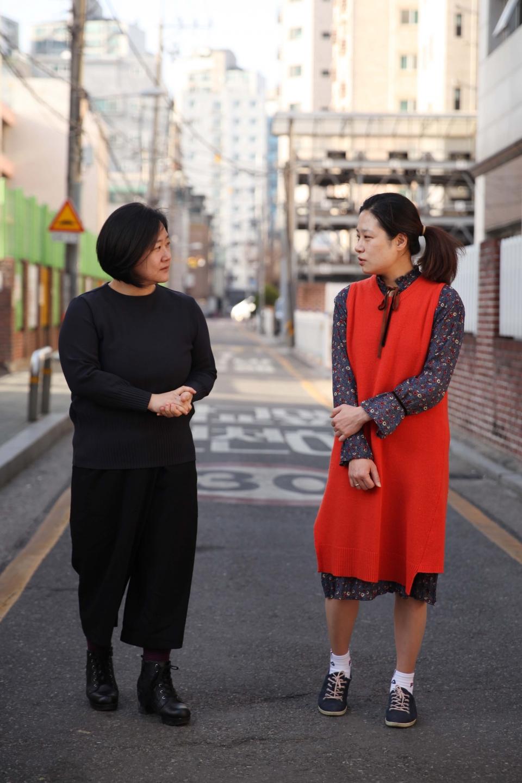 권김현영·권수현 한국여성단체연합 공동 혁신위원장 ⓒ홍수형 기자