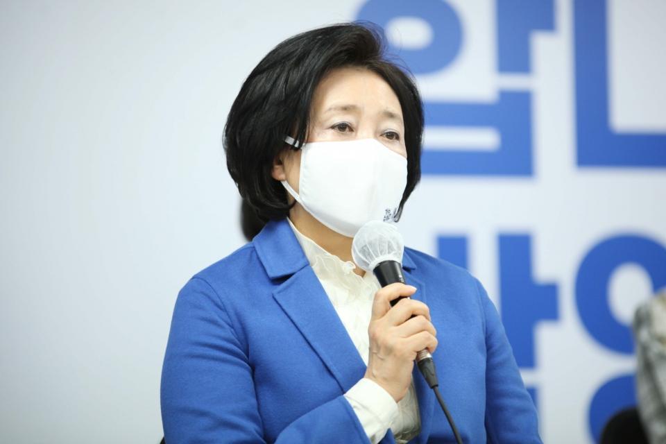박영선 서울시장 후보 ⓒ홍수형 기자