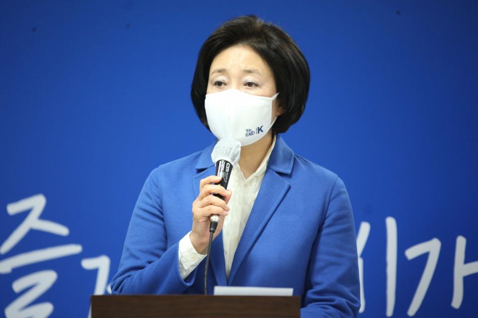 박영선 서울시장 선거 후보 ⓒ홍수형 기자