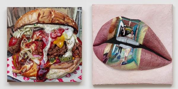 왼쪽부터 지나 비버스의 Liz Phair 'Parasite' Lips(2020), Korean Krispy Buttermilk Chicken Encased in Siracha Rice Krispy Coating with Red Jalapeno(2020) ⓒVSF갤러리