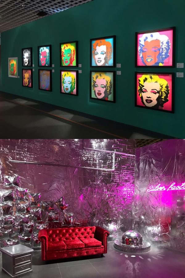 더현대서울 알트원, '앤디 워홀: 비기닝 서울' 전시장 입구에서는 '마릴린 먼로 연작'을 볼 수 있다. 전시장 곳곳에는 화려한 포토존도 마련됐다. ⓒ여성신문