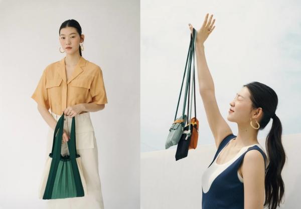 플리츠마마가 2020년 6월 선보인 투명페트병 재활용 가방 제품 '제주 에디션' ⓒ플리츠마마