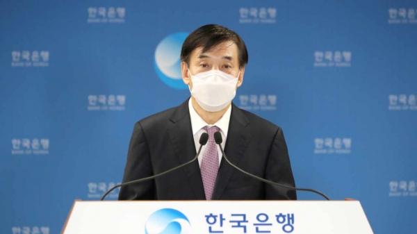 이주열 한국은행 총재가 15일 오전 서울 중구 한국은행에서 열린 통화정책방향 기자간담회에서 발언하고 있다. ⓒ한국은행/뉴시스