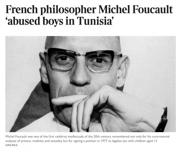 """프랑스 석학 기 소르망(77)이 28일 영국 더선데이타임스와의 인터뷰에서 """"철학자 미셸 푸코가 튀니지 거주 당시 현지 소년들 상대로 성착취를 일삼았다""""고 폭로했다. ⓒ더선데이타임스 웹사이트 캡처"""