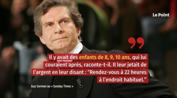 미셸 푸코가 튀니지에 머물던 1960년대 후반 당시 아동 성착취를 일삼았다고 폭로한 프랑스 석학 기 소르망. ⓒ프랑스 언론 르푸앙(Le Point)이 30일 유튜브에 게재한 영상 캡처