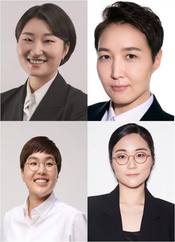 (시계방향으로)기본소득당 신지혜·여성의당 김진아·진보당 송명숙·무소속 신지예 서울시장 후보.