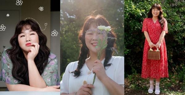 2020년 모 여성의류 쇼핑몰 전속모델로 발탁돼 봄/여름 시즌 패션 화보를 촬영한 김민경 씨.  ⓒ공구우먼