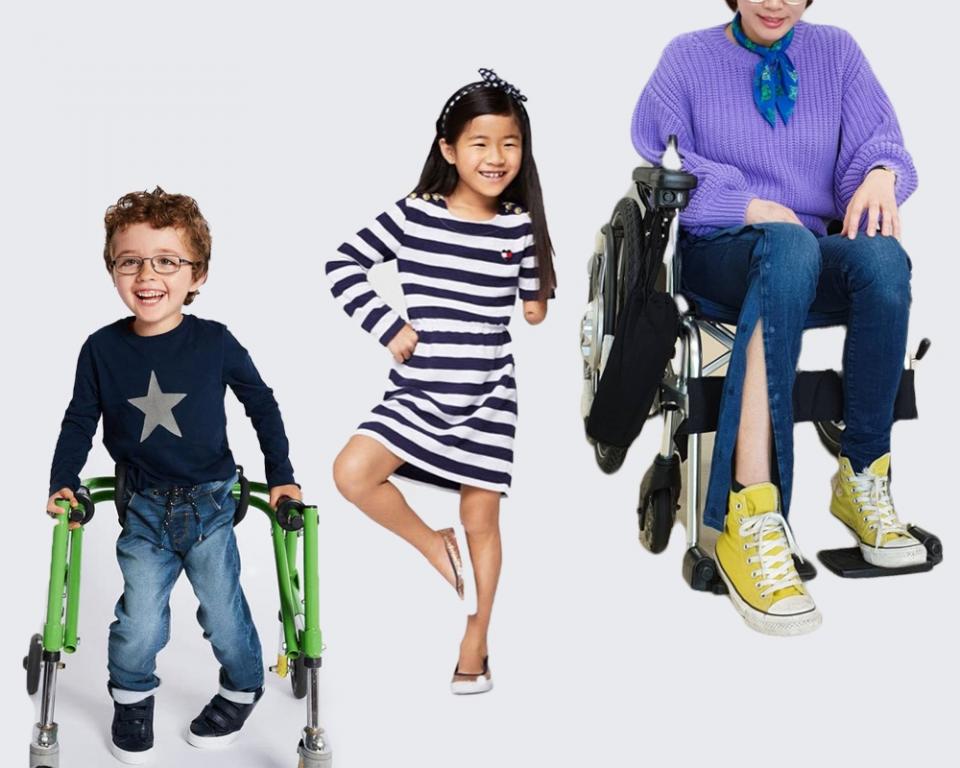 불편하다고 스타일을 포기하는 일은 없어야 한다. 최근 패션업계는 이러한 기조에 맞춰 장애인이나 거동이 불편한 이들을 위해 다양한 의류를 선보이고 있다. (왼쪽부터) 막스앤스펜서의 '쉬운 옷입기(Easy Dressing)' 컬렉션 제품, 타미힐피거 '어댑티브 라인(Adaptive Line)' 제품, 유니클로의 국내 장애인 의류 리폼 지원 캠페인 사진. ⓒ여성신문