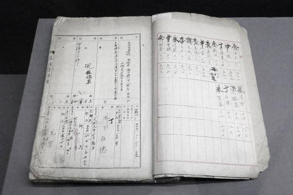 창씨개명 호적부. 일제는 1940년 창씨개명을 실시해 한국인의 성과 이름을 일본식으로 바꾸었다. 창씨개명을 하지 않는 사람들은 학교 진학과 취업 등 생활에 불이익을 받았다. 대한민국역사박물관 소장. ⓒ최규화