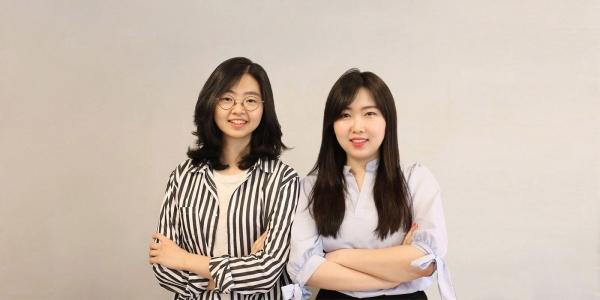 인체에 무해한 여성 용품을 만든 '해피문데이'의 김도진, 부혜은 대표. ⓒ해피문데이