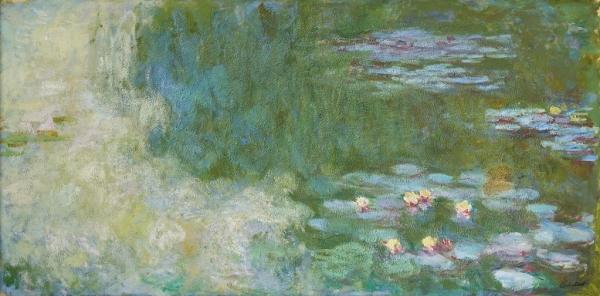국립현대미술관에 기증되는 클로드 모네의 '수련이 있는 연못(Le Bassin Aux Nympheas)', 1919~1920, 100×200cm.  ⓒ뉴시스·여성신문