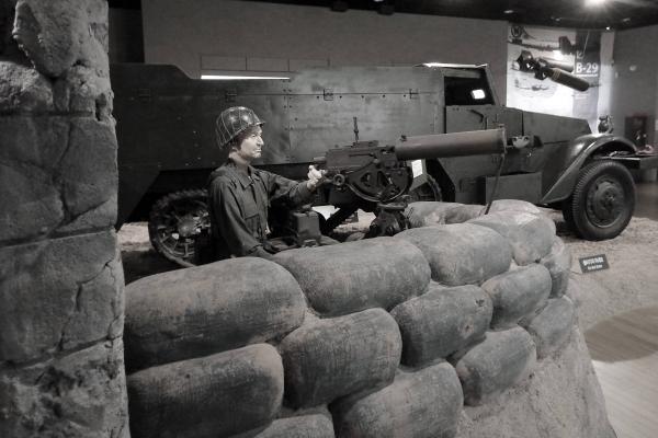 한국전쟁 당시 미군의 전쟁 모습을 재현한 조형물. 전쟁기념관. ⓒ최규화