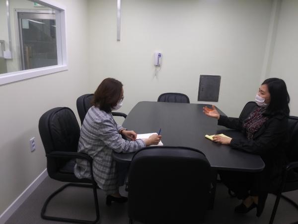 폭력피해 이주여성 전문 상담기관 '남서울이주여성상담소' 면접상담실 모습. ⓒ서울시