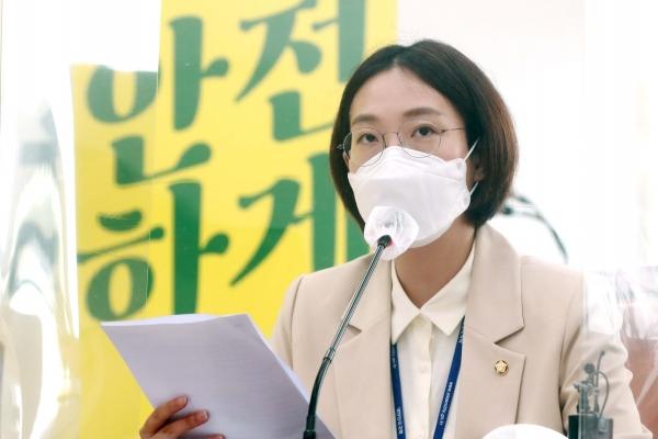 """장혜영 정의당 의원은 입장문에서""""우리 자신의 존엄을 지키기 위해서라도, 동료 시민들의 훼손된 존엄을 지키는 길에 함께해 달라""""고 당부했다. ⓒ여성신문·뉴시스"""