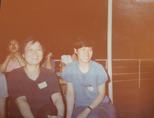 1987년 동인캠프에 참석한 고정희 시인 ⓒ여성신문
