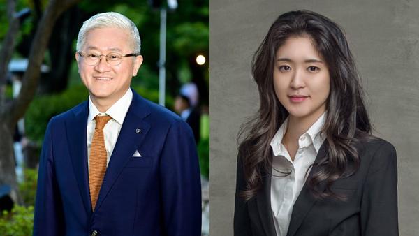 아모레퍼시픽그룹 서경배(왼쪽) 회장과 장녀 서민정 씨 ⓒ뉴시스
