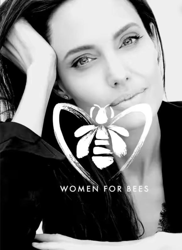 앤젤리나 졸리는 2021년 유네스코와 프랑스 화장품 브랜드 겔랑이 함께 추진 중인 여성 양봉가 지원 프로그램 'Women for Bees'의 홍보대사로도 활동 중이다. ⓒ겔랑