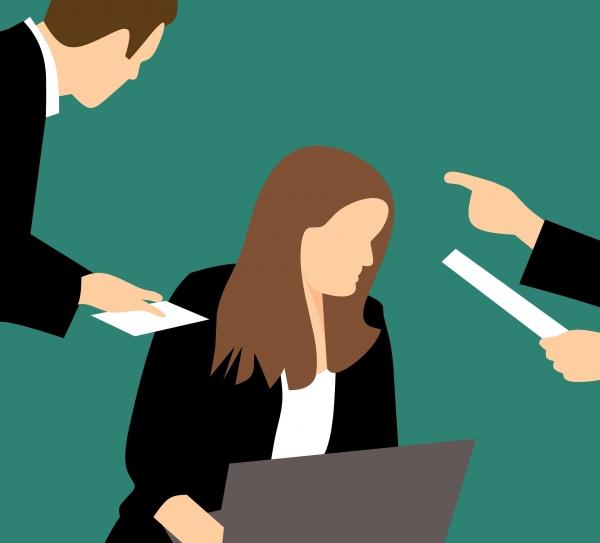 직장 내 괴롭힘이 점점 증가하는 가운데 여성이 약 60%를 차지하는 것으로 나타났다. ⓒPixabay
