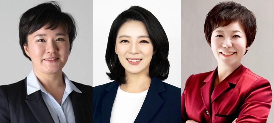 국민의힘 조수진(왼쪽부터), 배현진, 정미경 최고위원.