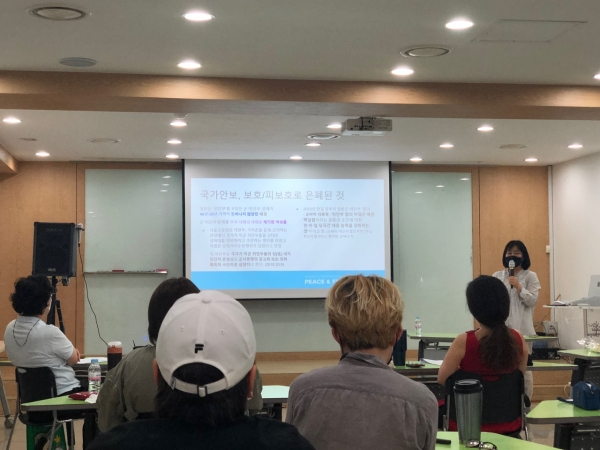 평화를만드는여성회(이하 여성회)와 한국여성단체연합(이하 여연)은 6·25 전쟁 71주년을 맞아 25일 서울 영등포구 여성미래센터 소통홀에서 '여성들의 종전 평화 캠페인'을 주제로 '여성·청년이 만드는 한반도 종전 평화 캠페인'을 진행했다.