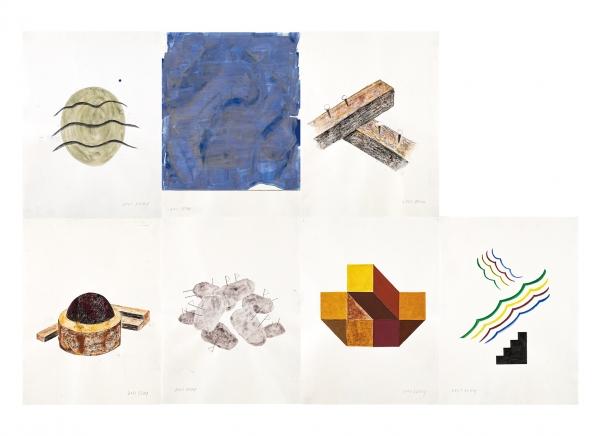 오원배 작 '무제'(켄트지에 혼합재료, 65×48cm, 2021년)GS칼텍스 예울마루 입주작가전 '오원배드로잉-장도의 기록'(7.9~8.1, 예울마루 장도전시실) ⓒ오원배