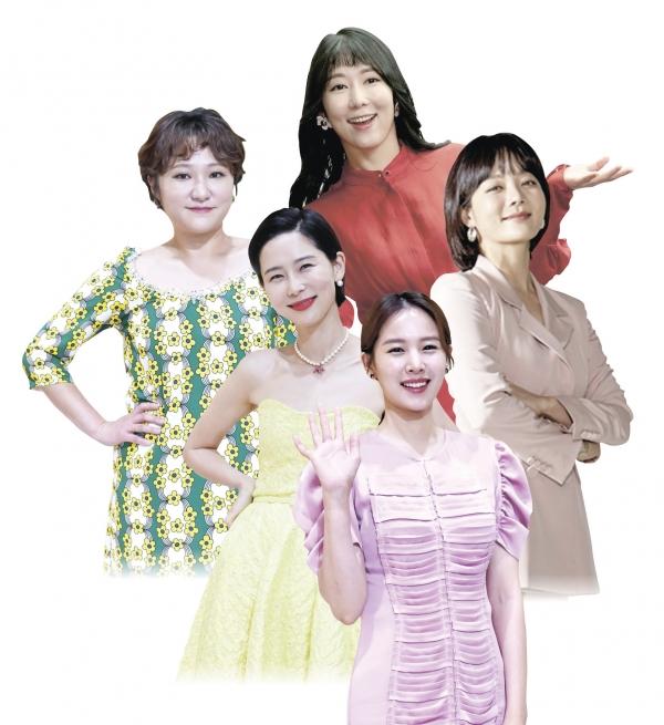 '비혼모' 사유리, '싱글맘' 조윤희, 김현숙, 김나영, 채림. 홀로 아이 키우는 여성들이 미디어 전면에 등장했다.  ⓒ여성신문