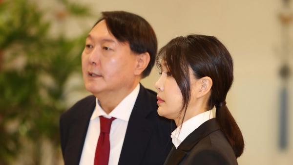 윤석열 전 검찰총장과 부인 김건희 씨 ⓒ뉴시스