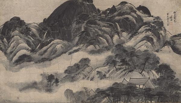 인왕제색도 (국보 제216호, 정선鄭敾 그림, 조선 1751년, 종이에 먹) ⓒ국립중앙박물관 제공
