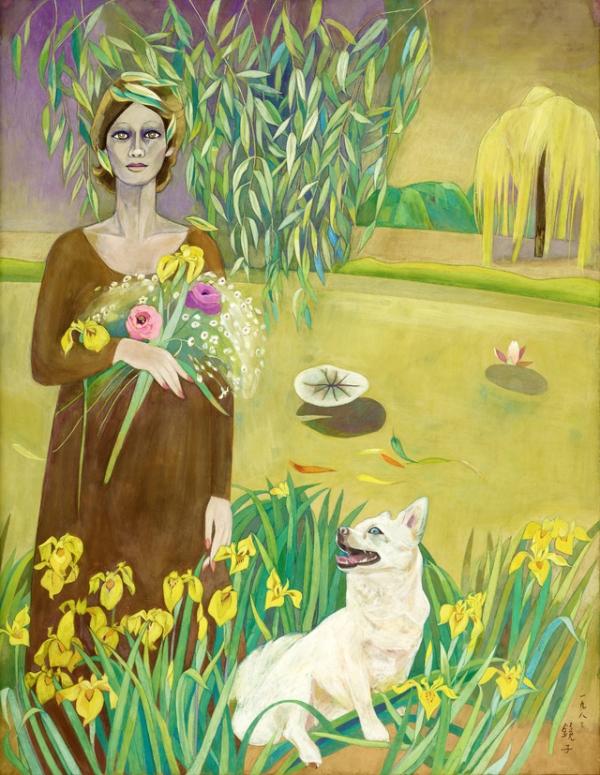 천경자(1924-2015), 노오란 산책길, 1983, 종이에 채색, 96.7x76cm. ⓒ서울특별시