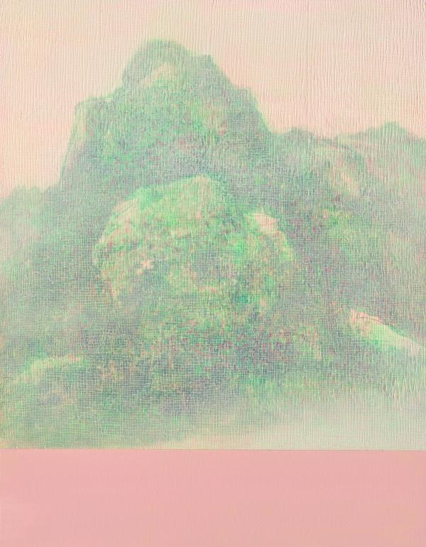 석철주 작 '신몽유도원도 21-19'(캔버스+아크릴릭+젤, 117x91cm, 2021) ⓒ석철주