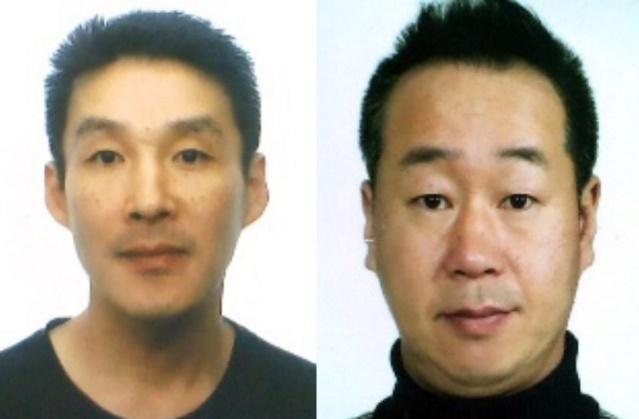 제주 중학생 살인 피의자인 백광석(왼쪽)과 김시남. 사진=제주경찰청 제공