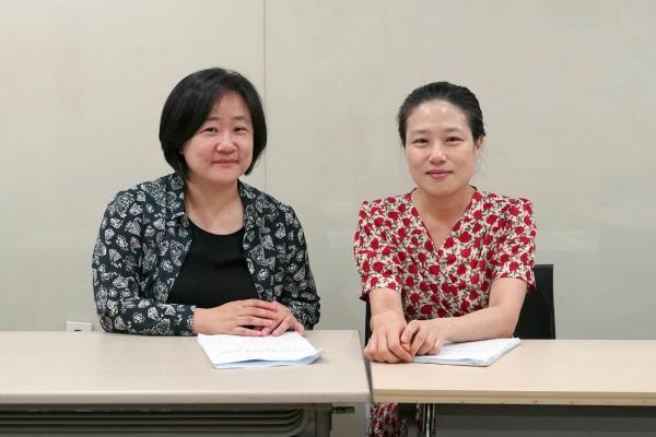 권김현영·권수현 한국여성단체연합 혁신위원장 ⓒ최예리 인턴기자