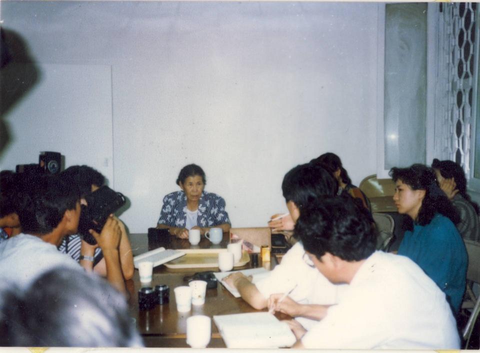 김학순 공개증언 현장, 1991년 8월 14일, 전쟁과여성인권박물관 소장