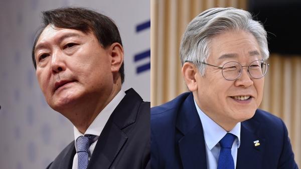 윤석열(왼쪽) 전 검찰총장과 이재명 경기도지사 ⓒ뉴시스