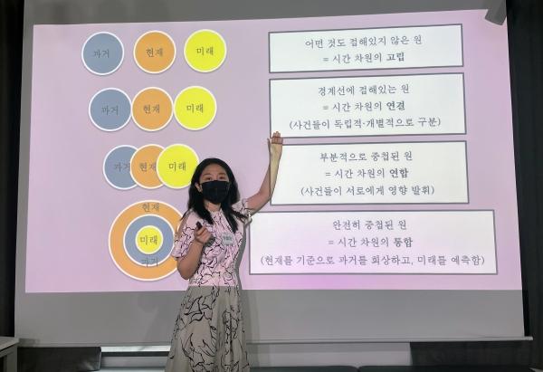 김율씨는 지난해부터 서울 은평구 서울청년센터 '은평오랑'에서 고민상담 프로그램 '속마음반상회'를 운영 중이다.  ⓒ여성신문/김율씨 제공