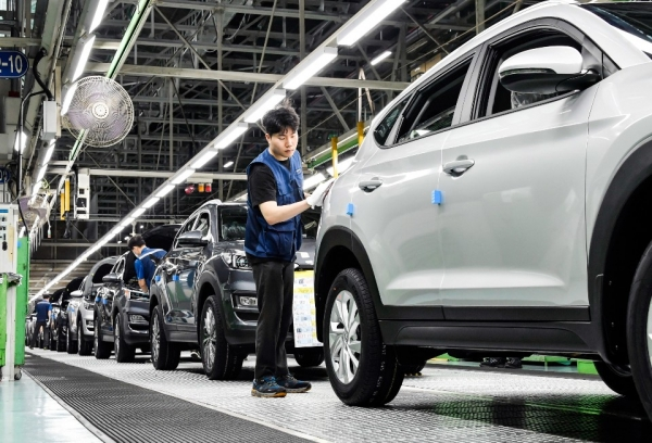 현대자동차 울산공장 생산라인. ⓒ뉴시스