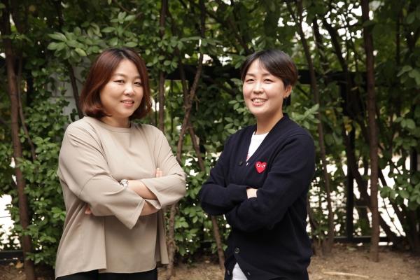 신혜미·양수안나 위밋업 스포츠 대표. ⓒ여성신문