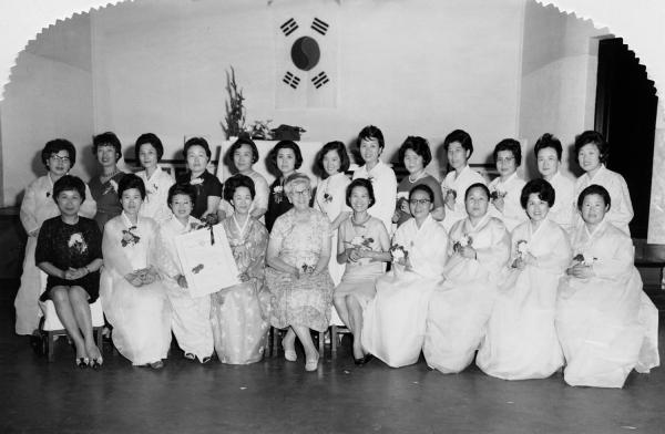 1966년 6월 4일 국제소롭티미스트 한국협회 서울클럽 인준식. ⓒ국제소롭티미스트 한국협회
