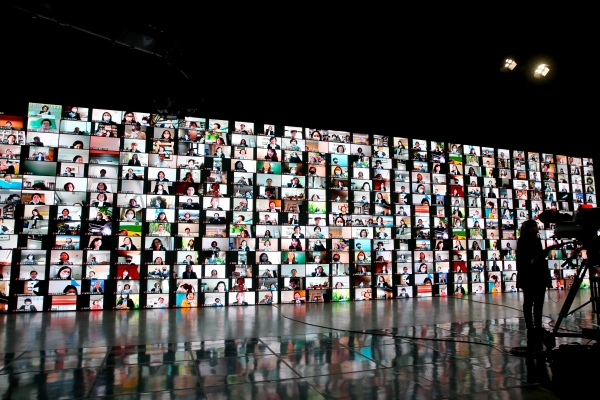 지난 4월 21일 열린 국제소롭티미스트 한국협회 제48차 정기총회 모습.  온라인 화상회의 프로그램을 통해 500명의 회원이 비대면으로 참여했다. ⓒ국제소롭티미스트 한국협회