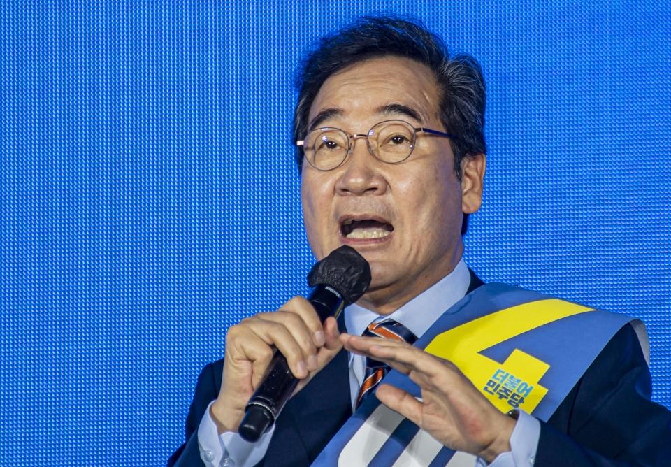 이낙연 전 더불어민주당 대표가 25일 오후 광주 서구 김대중컨벤션센터 1층 다목적홀에서 열린 대선 후보 선출을 위한 광주·전남 합동연설회에서 1위를 차지했다. ©뉴시스·여성신문