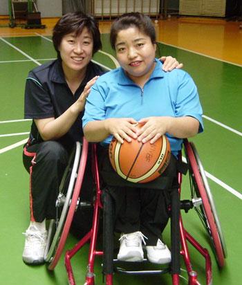 폭스 휠의 김현숙 감독(왼쪽)과 박은경 선수.