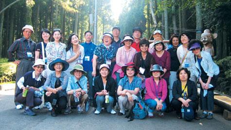 9월 17~19일 2박3일간 '女神의 섬 제주를 걷다' 행사에 참가한 참가자들.