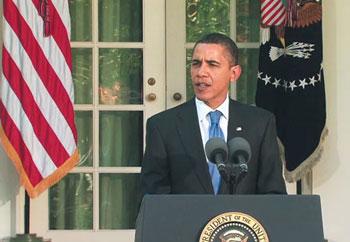 하원의 건강보험개혁안 통과가 이뤄진 다음날인 7일, 백악관 기자회견에서 앞으로의 계획을 설명하는 오바마 대통령.  (출처: 백악관 웹사이트)
