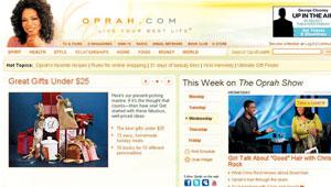 '오프라 윈프리 쇼'의 모든 것을 소개하는 그의 웹사이트 '오프라닷컴'의 메인 페이지